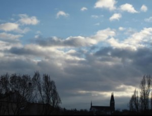 The incredible, magical Vysehrad, taken from my apartment window.