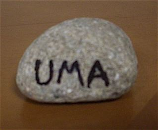 My friend found and took this rock to Uma for me while she was in the hospital.